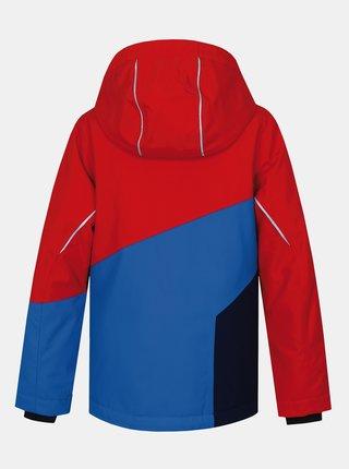 Červeno-modrá klučičí zimní bunda Hannah Kigali Jr