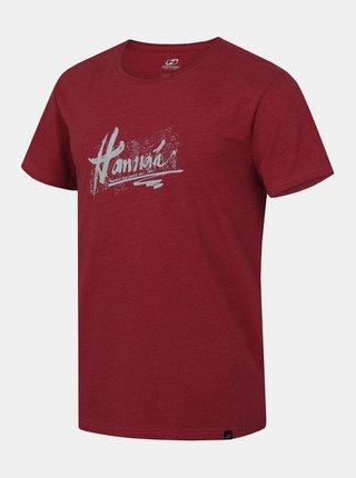 Vínové pánské tričko s krátkým rukávem Hannah