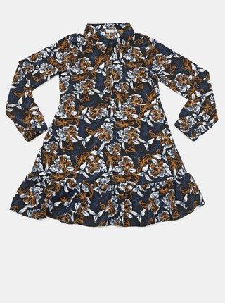 Modré holčičí květované šaty name it Vinaya