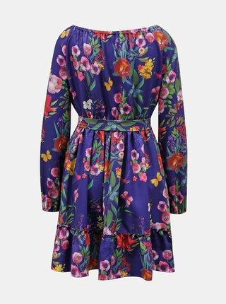 Fialové květované šaty Numoco