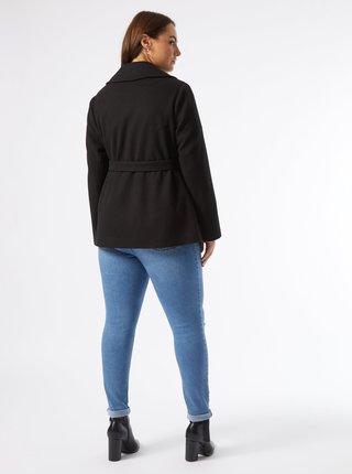 Černý krátký kabát Dorothy Perkins Curve