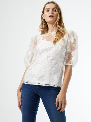 Biela kvetovaná blúzka Dorothy Perkins