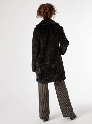 Černý zimní kabát z umělého kožíšku Dorothy Perkins Tall