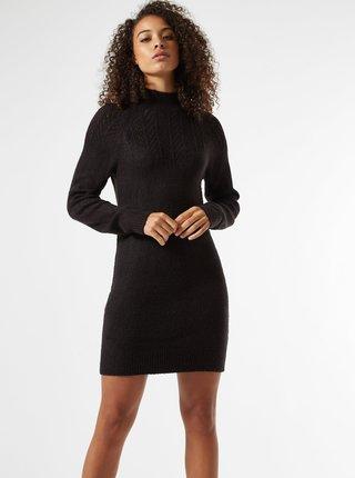 Čierne svetrové šaty Dorothy Perkins Tall