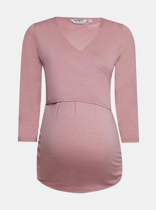 Ružové tehotenské tričko Dorothy Perkins Maternity