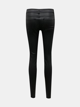 Černé skinny fit kalhoty s povrchovou úpravou Noisy May
