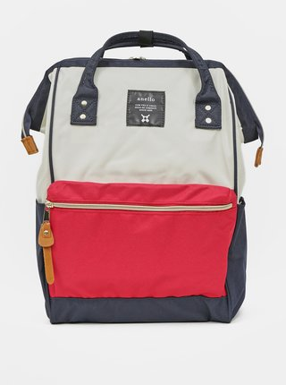 Červeno-modrý batoh Anello 18 l