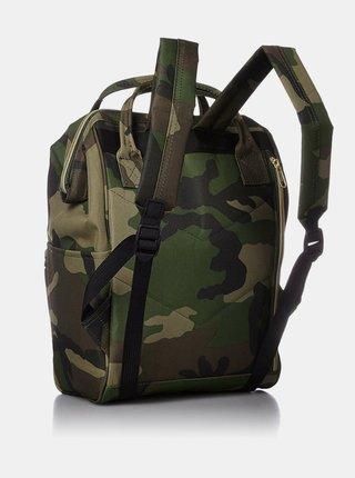 Khaki maskáčový batoh Anello 18 l