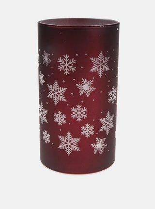 Červená svietiaca dekorácia s vianočným motívom Dakls