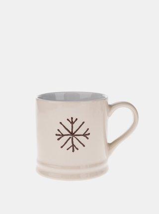 Krémový hrnček s vianočným motívom Dakls 420 ml