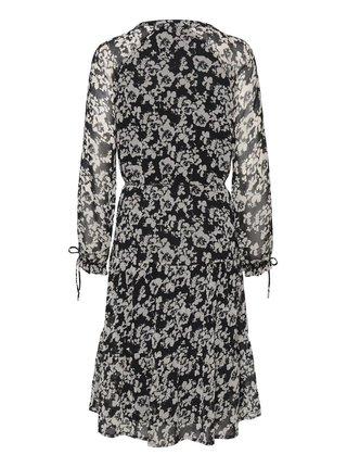 Ichi černo-béžové vzorované šaty Ihanli