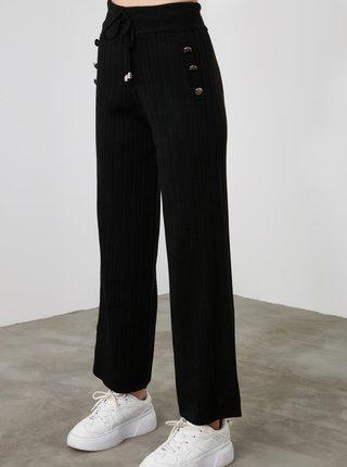 Černé dámské zkrácené kalhoty Trendyol