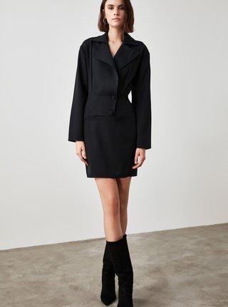 Černé pouzdrové šaty Trendyol