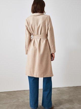 Béžový dámský kabát Trendyol