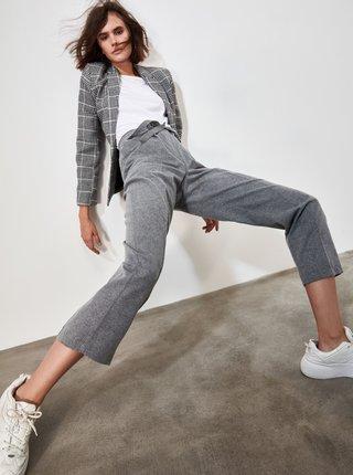 Šedé dámske skrátené nohavice Trendyol