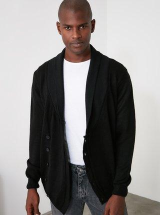 Černý pánský kardigan Trendyol