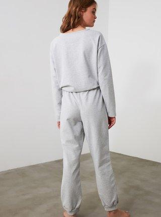 Světle šedé pyžamo Trendyol