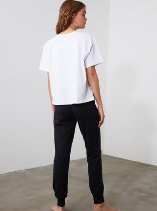 Černo-bílé pyžamo Trendyol