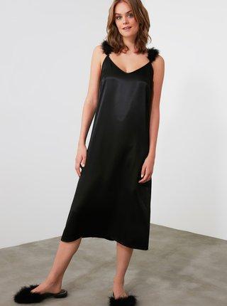 Černá noční košile Trendyol