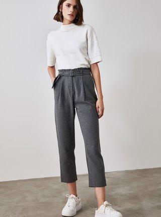 Tmavě šedé kalhoty Trendyol