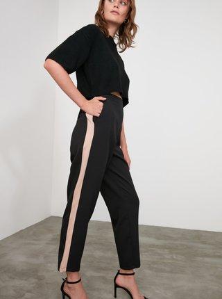 Černé kalhoty Trendyol