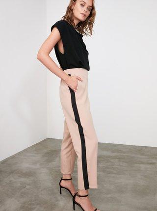 Béžové kalhoty Trendyol