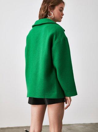 Zelený krátký kabát Trendyol