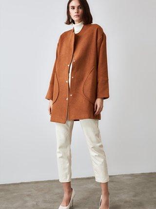 Hnědý lehký kabát Trendyol