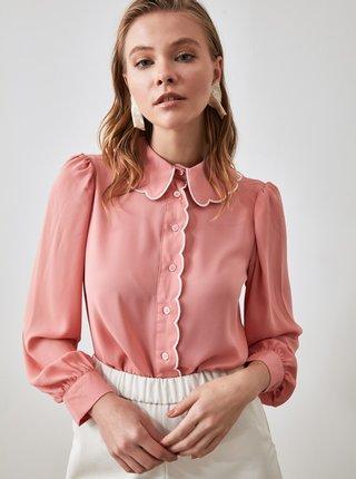 Ružová dámska košeľa Trendyol