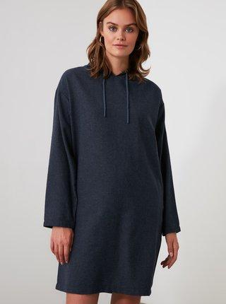 Tmavě modré mikinové šaty Trendyol