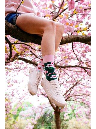 Many Mornings barevné ponožky Cherry Blossom