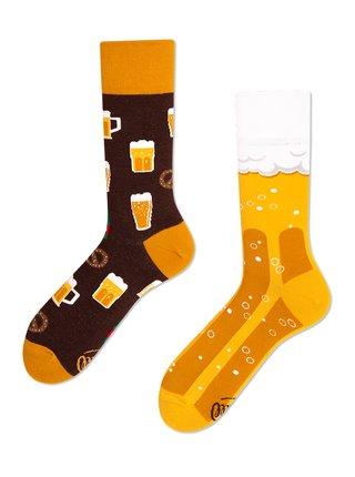 Many Mornings žluté ponožky Craft Beer