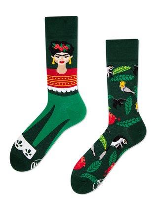 Many Mornings zelené ponožky Feel Frida