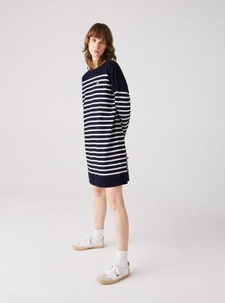 Tmavomodré pruhované šaty Lacoste