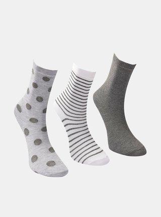 Sada tří párů dámských šedých ponožek Trendyol