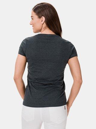 Tmavě šedé dámské tričko s potiskem SAM 73 Penny