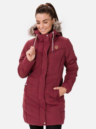 Vínový dámský zimní prošívaný kabát SAM 73 Amelia