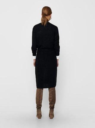 Černý dlouhý kardigan Jacqueline de Yong