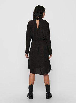 Černé vzorované šaty Jacqueline de Yong