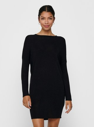 Černé svetrové šaty Jacqueline de Yong