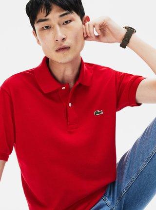 Červené pánské basic polo tričko Lacoste