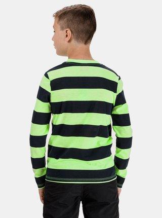 Zelené chlapčenské pruhované tričko s potlačou SAM 73