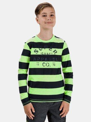 Zelené klučičí pruhované tričko s potiskem SAM 73