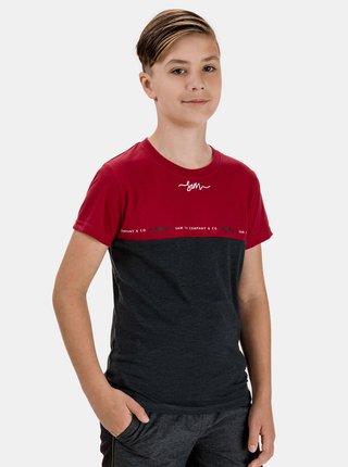 Červeno-šedé klučičí tričko SAM 73 Barry