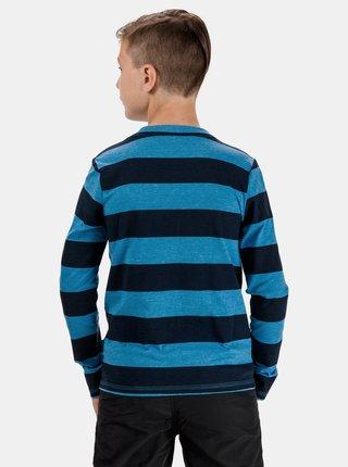 Modré chlapčenské pruhované tričko s potlačou SAM 73