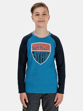 Modré chlapčenské tričko s potlačou SAM 73