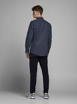 Tmavě modrá vzorovaná košile Jack & Jones