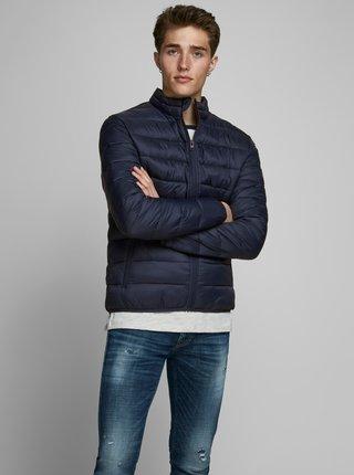 Tmavě modrá zimní prošívaná bunda Jack & Jones