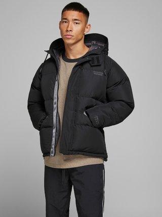 Čierna zimná prešívaná bunda Jack & Jones