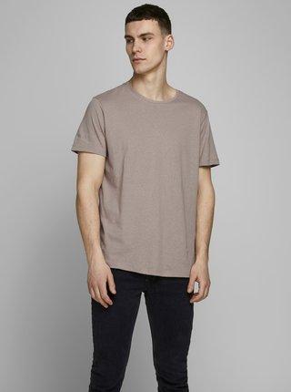 Béžové tričko s prímesou ľanu Jack & Jones